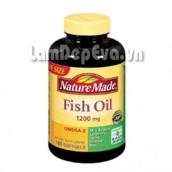 Dầu Cá NatureMade Fish Oil + Omega-3 180 Viên Của Mỹ