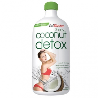 Nước uống giảm cân, thanh lọc cơ thể Coconut Detox 2 day plan của