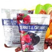 Trái cấy sấy khô KirkLand Berries & Cherries 567g của Mỹ