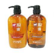 Dầu gội xả đầu mỡ con ngựa Horse Oil của Nhật Bản chai 600ml