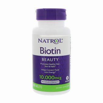 Natrol Biotin 10.000mg của Mỹ -Thuốc mọc tóc, ngăn rụng tóc