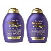 Bộ dầu gội và dầu xả Thick and Full Biotin Collagen Organix 385ml