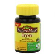Viên uống bổ sung sắt Nature Made Iron 65mg hộp 180 viên