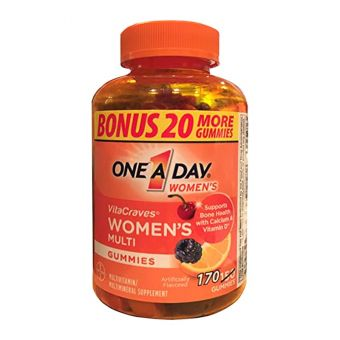 Kẹo dẻo vitamin One A Day Women's Vitacraves Gummies 170 viên