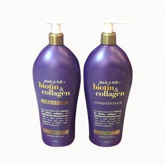 Bộ đôi dầu gội xả Biotin & Collagen 1,18 lít chuẩn Mỹ