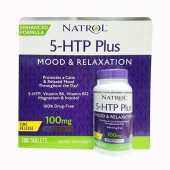 Viên uống giảm căng thẳng Natrol 5-HTP Plus hộp 150 viên