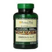 Omega 3-6-9 Flax Oil Puritan's Pride-Bảo Vệ Tim Mạch-120 Viên