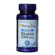 Biotin 5000mcg 60 Viên Của Mỹ-Hỗ Trợ Da, Móng Và Tóc