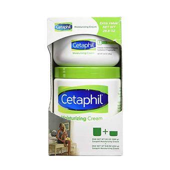 Set 2 hũ kem dưỡng ẩm Cetaphil Moisturizing Cream 566g + 250g