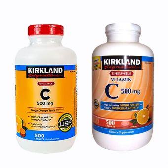 Viên uống bổ sung vitamin C 500mg Kirkland 500 viên của Mỹ