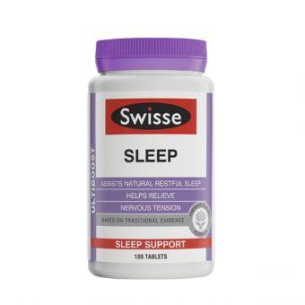 Viên uống hỗ trợ giấc ngủ Swisse Ultiboost Sleep 100 viên của Úc