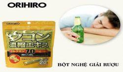 Bột nghệ giải rượu orihiro có tốt không? Review từ chuyên gia