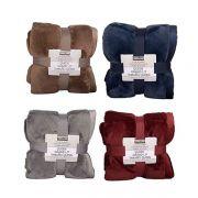 Chăn lông cừu KirkLand Plush Blanket Queen 248 x 233cm Mỹ
