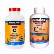 Viên uống bổ sung vitamin C 500mg Kirkland của Mỹ 500 viên
