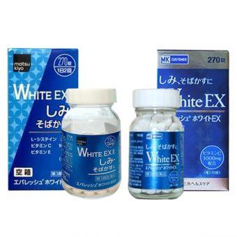 Viên uống White EX 270 viên, 180 viên Nhật Bản mẫu mới