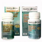 Viên uống bổ não Ginkgo Biloba Healthy Care 2000mg của Úc