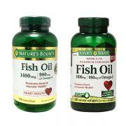 Dầu cá Natures Bounty Fish Oil 1400mg của Mỹ hộp 130 viên