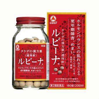 Thuốc bổ máu Rubina Nhật Bản hộp 180 viên, hàng nội địa