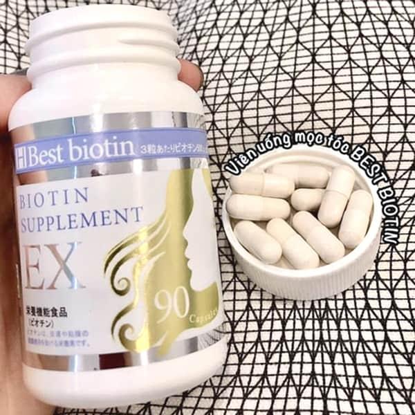 Viên uống hỗ trợ mọc tóc Best Biotin Nhật 90 viên giá tốt - DHP