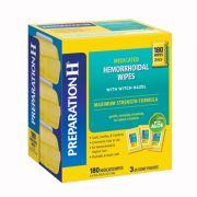 Khăn lau trị trĩ Preparation H Hemorrhoidal Wipes Mỹ 180 miếng