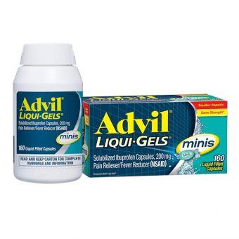 Thuốc giảm đau hạ sốt Advil Liqui Gel Minis 200mg viên nhỏ