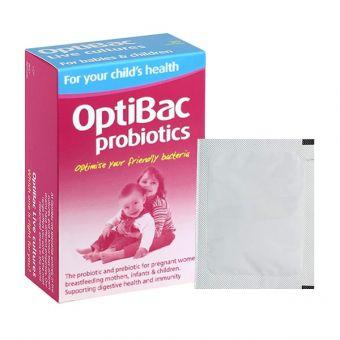 Men vi sinh Optibac Probiotics hồng cho trẻ em, bà bầu