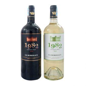 Set 2 chai rượu vang Pháp 1982 UG Bordeaux 2018
