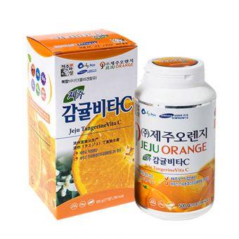 Viên ngậm Vitamin C Jeju Orange 500g - Vitamin C nguyên chất