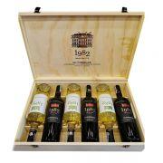 Set 6 chai rượu vang Pháp 1982 UG Bordeaux 2018 trắng đỏ