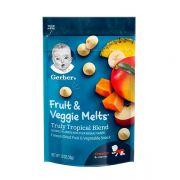 Sữa chua khô Gerber Fruit Veggie Melts 28g cho bé