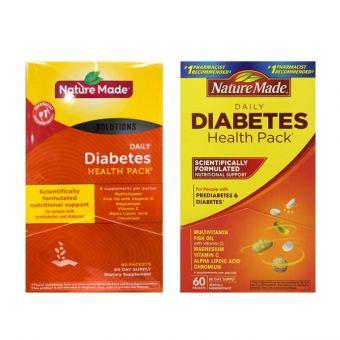 Nature Made DIABETES Health Pack 60 gói, Hàng Mỹ, giá đại lý