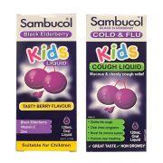 Siro trị cảm cúm Sambucol Cold & Flu 120ml vị mâm xôi
