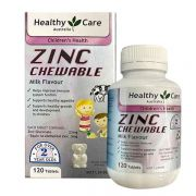 Viên kẽm Healthy Care Zinc Milk Flavour 120 Chewable Tablets
