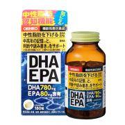 Viên dầu cá Orihiro DHA 780mg EPA 80mg bổ não, trí nhớ