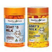 Viên sữa dê Goat Milk Healthy Care Úc 300 viên, 2 hương vị