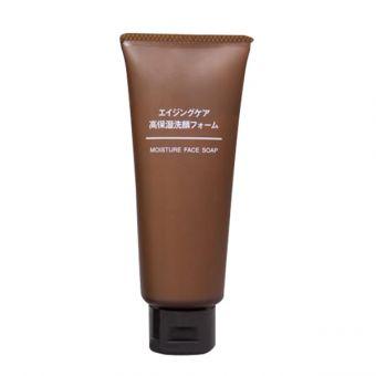 Sữa rửa mặt Muji Moisture Face Soap màu nâu chống lão hóa