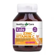 Viên nhai Healthy Care Kids Zinc + Vitamin C Chewable Úc