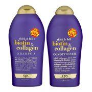 Bộ dầu gội và dầu xả Thick and Full Biotin Collagen Organix ...