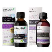 Siro trị cảm cúm cho bé Brauer Cold & Flu 100ml của Úc