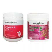 Vitamin E 500IU Healthy Care 200 viên chính hãng Úc