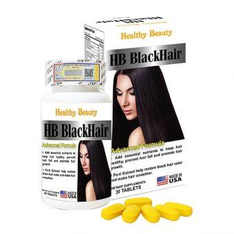 Viên uống HB Black Hair Healthy Beauty giảm rụng và đen tóc