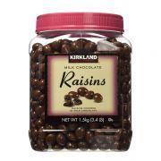 Socola sữa bọc nho khô Kirkland Chocolate Raisins 1,53kg