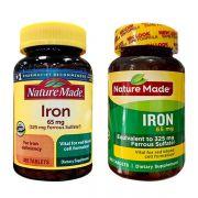 Viên uống bổ sung sắt Iron 65mg Nature Made 365 viên mẫu mới