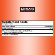 Viên uống bổ sung Vitamin C 1000mg Kirkland hộp 500 viên