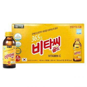 Nước uống bổ sung 365X Vitamin C Gold 10 chai Hàn Quốc