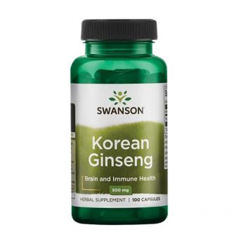 Viên uống nhân sâm Swanson Korean Ginseng 500mg của Mỹ