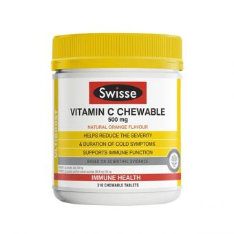 Viên nhai Swisse Vitamin C Chewable 500mg Úc 310 viên