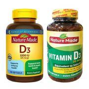 Viên uống Vitamin D3 Nature Made 1000 IU 650 viên của Mỹ