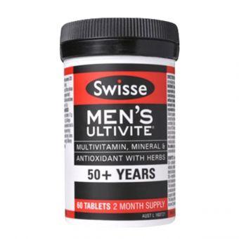 Viên uống vitamin tổng hợp Swisse Men's 50+ Ultivite 60 viên