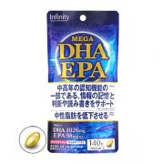 Viên uống Mega DHA EPA Infinity Nhật Bản, gói 140 viên